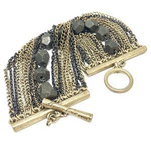 Kenneth Cole Oxidized & Gold tone bracelet toggle